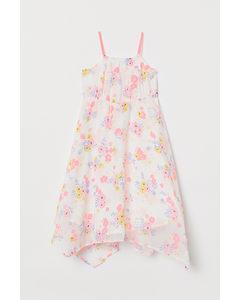 Maxiklänning Vit/rosablommig