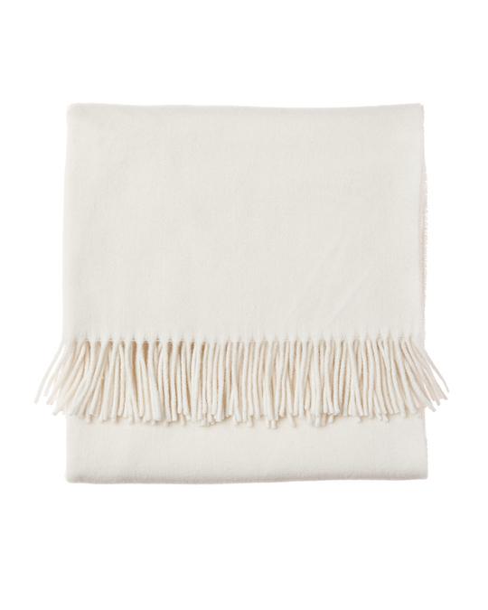 Lexington Aurora Spring Wool Scarf-shell White