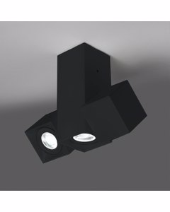 Dau Matt Schwarz Satin Aluminium Geometrische Lampeen mit 3 Cubical Zylinder für den Innenbereich -