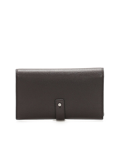 Ysl Leather Card Case Brown
