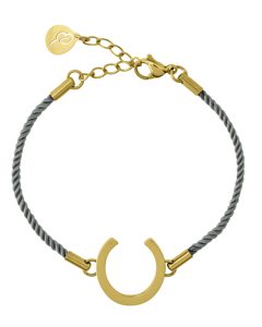 Fortune Armband Cord Sky Blue Gold