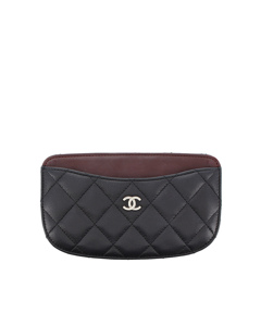 Chanel Matelasse Lambskin Leather Coin Pouch Black