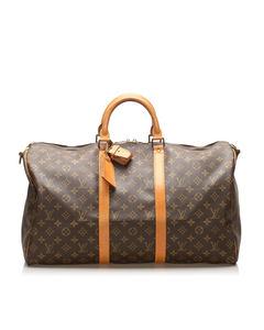 Louis Vuitton Monogram Keepall 50 Brown