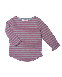 Pixel L/s Tee Winter Pink Grey