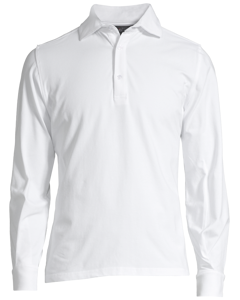 Poppy Long Sleeve Polo White