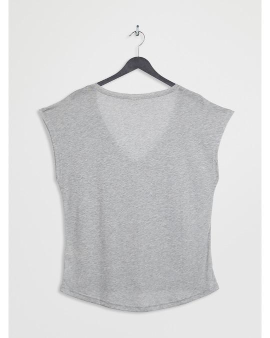 Arket Semi-Sheer T-Shirt Grey