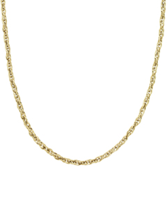 Chain Braided Ketting 50 Cm Goud