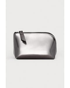 Makeup-väska Mörkgrå/metallic