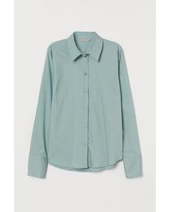 Stretchig Skjorta Mintgrön