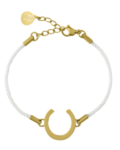 Fortune Armband Cord White Gold