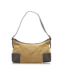 Loewe Anagram Suede Shoulder Bag Blue