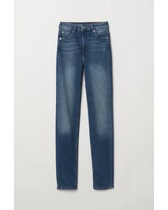 Slim High Jeans Donker Denimblauw