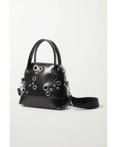 Tasche Amy mit Ösenverzierung Schwarz