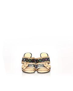 Louis Vuitton Monogram Multicolore Sandals Brown
