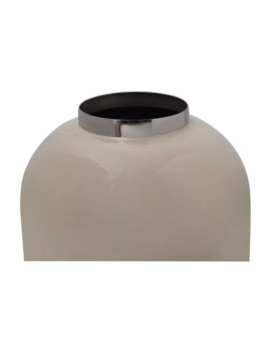 360Living Vase Art Deco 345 Ivory / Silver