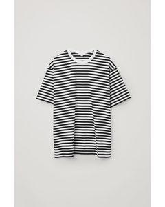 Organic Cotton Contrast Stripe T-shirt Navy / White