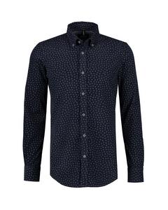 Fijncord Overhemd Met Allover Print