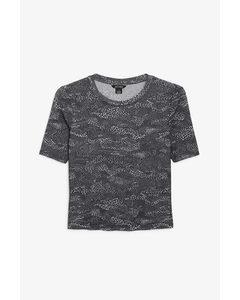 Transparentes T-Shirt Schwarz und Weiß/Abstrakt