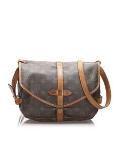 Louis Vuitton Monogram Saumur 30 Brown