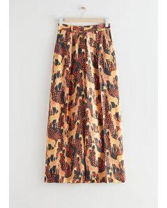 Weite Hose mit Giraffen-Print Giraffen-Print