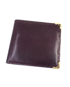 Cartier Must De Cartier Lizard Leather Wallet Red