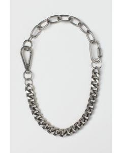 Halskette Silberfarben