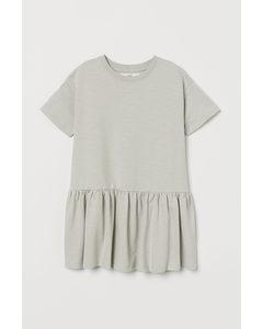 T-Shirt-Kleid Helles Mattgrün