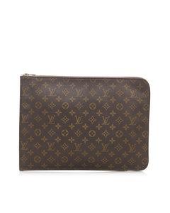 Louis Vuitton Monogram Poche Document Brown