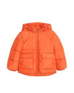 Down Puffer Jacket Orange