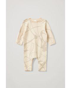 Printed Babygrow Beige