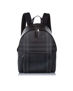 Burberry Tonal Check Abbeydale Backpack Gray