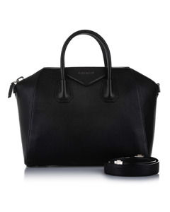 Givenchy Antigona Leather Satchel Black