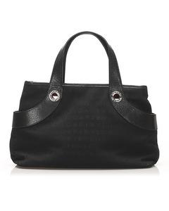 Bvlgari Canvas Handbag Black