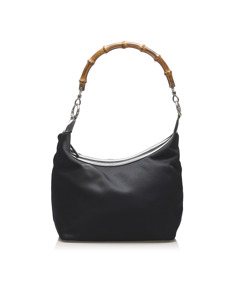 Gucci Bamboo Nylon Handbag Black
