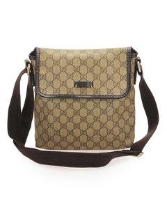 Gucci Gg Supreme Crossbody Bag Brown