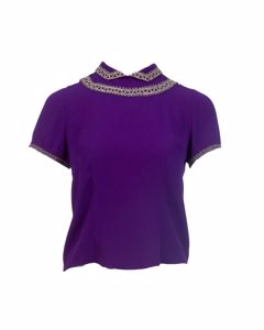 Royal Purple Embroidered Blouse