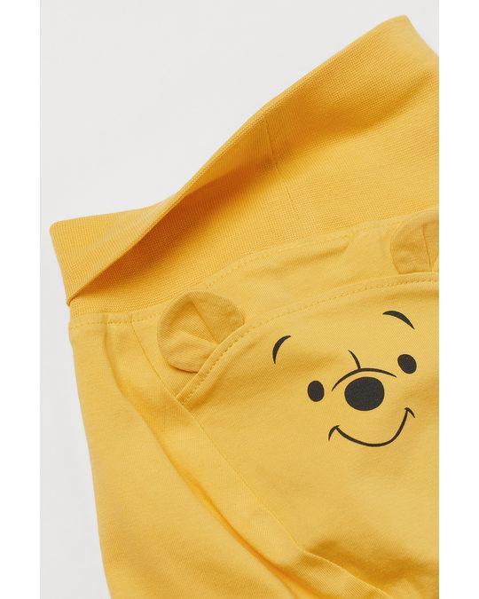 H&M 3-piece Jersey Set Yellow/winnie The Pooh