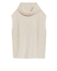 Merino Roll Neck Vest Off White