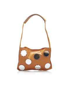 Prada Mirror Leather Shoulder Bag Orange