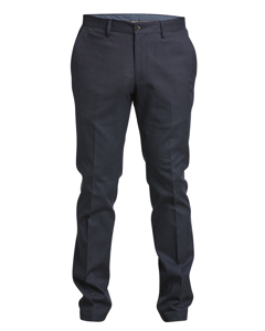 Dogstooth Trouser Modern Fit Bluemelange