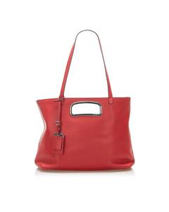 Prada Leather Satchel Red