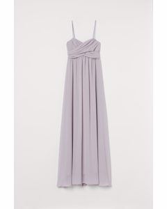 Long Bandeau Dress Light Purple