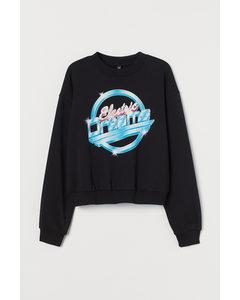 Sweatshirt Schwarz/Electric Dreams