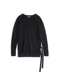 Molly Strap Knit Almost Black
