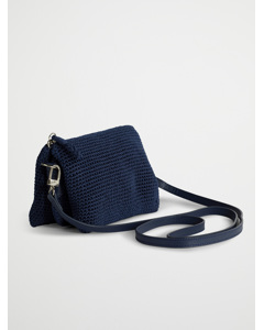 Three Pocket Bag Denim Blue Crochet Collection Blue