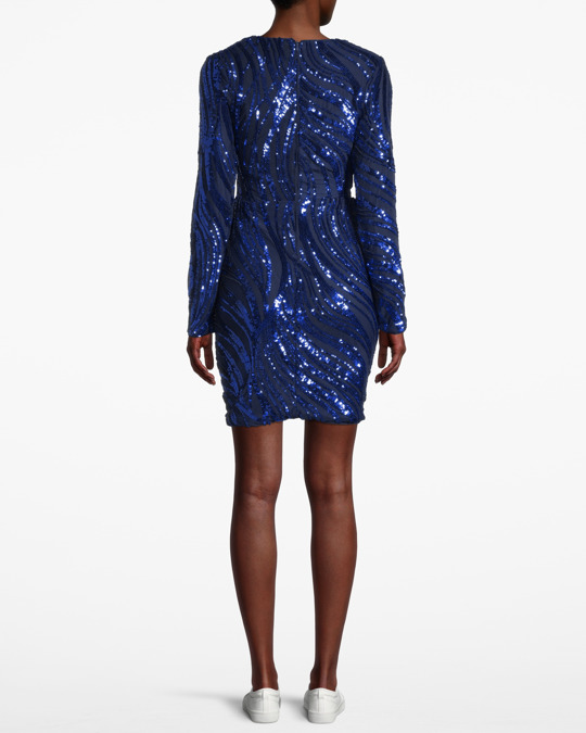 NLY by Nelly Luxe Glitter Dress, Blå