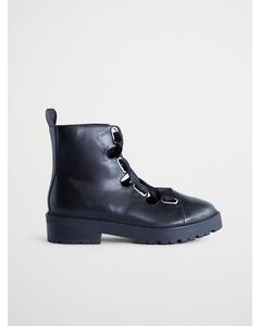 Chunky Lace Boot, Svart