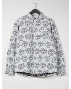 Ss18 Burke Western Shirt In Jacquard Fabric - White-black