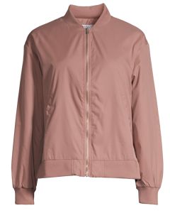 Side Slit Bomber Jacket  Dusty Dark Pink