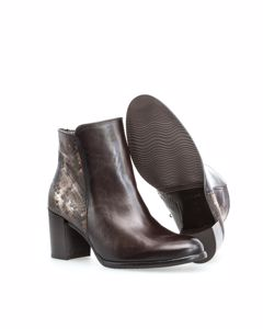 Nappa Snake Espresso Booties